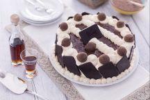 Torta al cacao con crema di zabaione