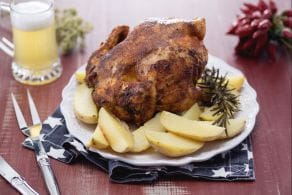 Beer can chicken al forno