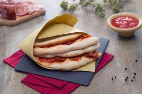 Ricetta Pizza a portafoglio con salame