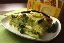 Lasagne  asparagi crema di ricotta e peperoni