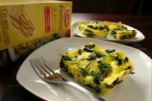 Lasagne gorgonzola spinaci e zafferano