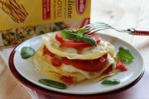 Lasagne con mozzarella e pomodoro