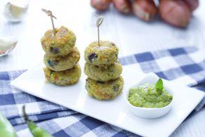 Ricetta Polpette di miglio alle verdure con crema di fave