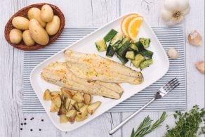 Ricetta Branzino agli agrumi con patate novelle al rosmarino e zucchine prezzemolate