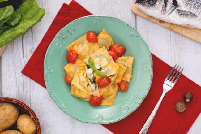 Ricetta ravioli di pesce con pomodorini la ricetta di for Barilla ricette