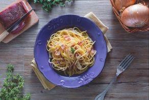 Ricetta Vermicelli al sugo di cipolle e pancetta
