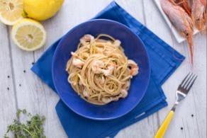 Ricetta Spaghetto rigato al limone e gamberi