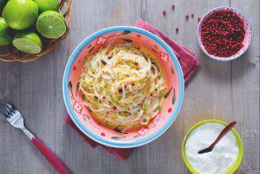 Ricetta Vermicelli al lime e pepe rosa