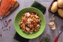 Pasta con salmone e patate