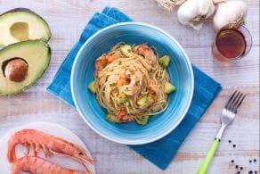 Ricetta Spaghettini avocado e gamberi