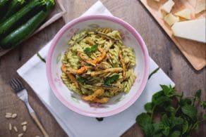 Ricetta Fusilli integrali con zucchine croccanti alla menta