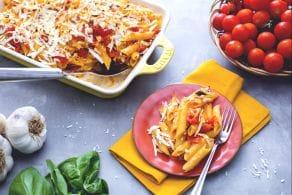 Ricetta Penne gratinate al pomodoro e ricotta salata