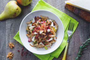 Ricetta Insalata di pasta con pere, pancetta e noci