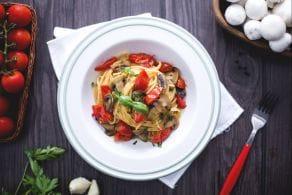 Spaghetti ai pomodorini e champignon