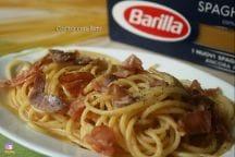 Spaghetti con pesce spada e speck