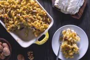 Pasta al gorgonzola gratinata al forno