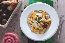 Ricetta Pasta porcini, salsiccia e castagne sbriciolate