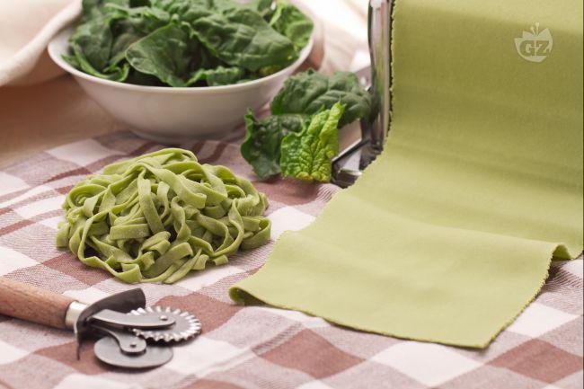 Pasta verde agli spinaci