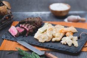Tempura di verdure autunnali e carne
