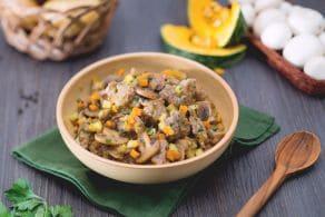 Ricetta Spezzatino di vitello con zucca, patate e funghi