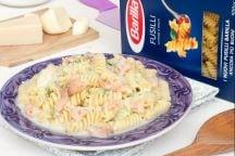 Pasta ai 4 Formaggi, Zucchine e Salmone