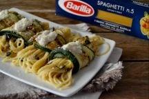 Involtini di zucchine con spaghetti e besciamella
