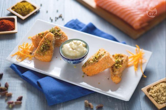 Bocconcini di salmone speziato croccante
