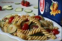 Fusilli con zucchine e pancetta