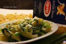 Penne zucchine feta e menta
