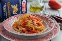 Penne con Pancetta e Peperoni