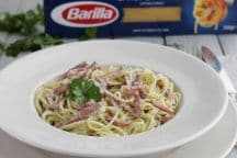 Spaghettini Speck e Robiola