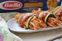 Involtini di zucchine con spaghetti