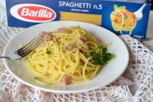 Spaghetti con crema allo zafferano