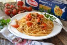 Spaghetti pesce spada e pomodorini