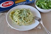Spaghetti rucola e robiola