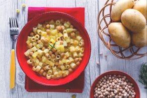 Ricetta Pasta ceci e patate