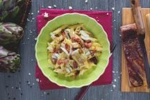 Penne carciofi e pancetta