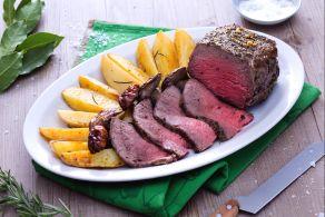 Ricetta Roast beef al forno con funghi e patate