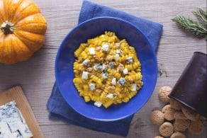 Pasta alla zucca, gorgonzola e amaretto