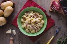 Pipe rigate speck e patate