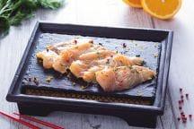 Carpaccio di ricciola marinato in salsa di soia