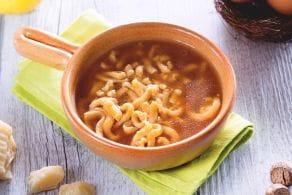 Passatelli in brodo con la salsa di soia