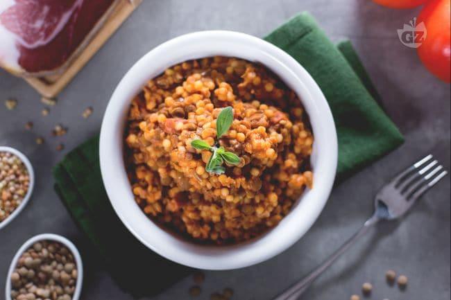 ricetta pasta e lenticchie - la ricetta di giallozafferano - Cuscino Con Lenticchie