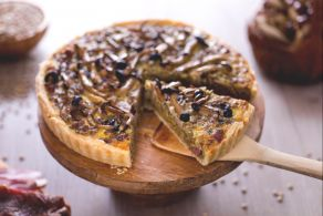 Torta salata funghi e lenticchie
