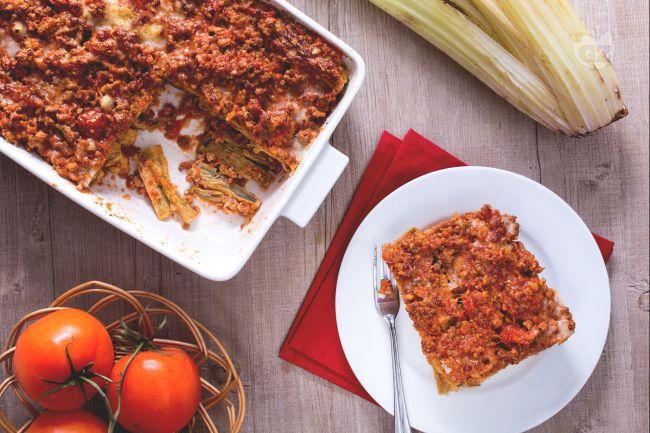 Ricetta parmigiana di cardi la ricetta di giallozafferano - Cucinare i cardi ...