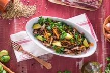 Ricetta Insalata di lenticchie con pancetta e verdure