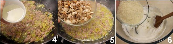 Paccheri ripieni con funghi e salsiccia