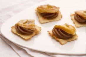 Sfoglie con crema di castagne e scamorza