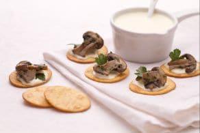 Ricetta Spianatine con funghi e fonduta di fontina