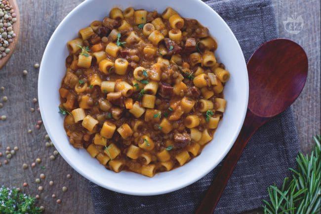 Ricetta pasta e lenticchie la ricetta di giallozafferano for Barilla ricette